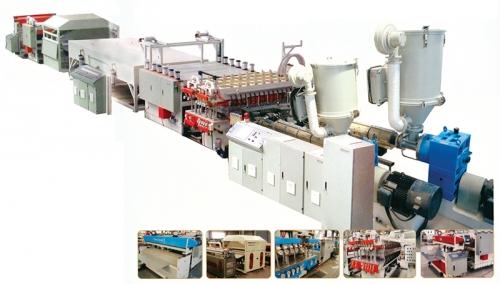 PP/PE/PC中空格子板生产线